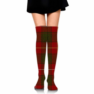 Unknown Macfie Tartan Large Over Knee Thigh Socks Knee-High Sock High Boot Thigh Women Socks for Cosplay Daily Wear