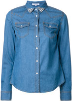 GUILD PRIME stoned collar denim shirt - women - Cotton/Nylon/Cupro - 34