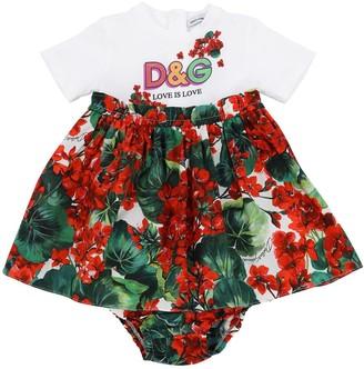 Dolce & Gabbana Cotton Jersey & Poplin W/ Diaper Cover