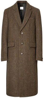 Burberry Herringbone Wool Tweed Coat