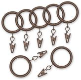 Bed Bath & Beyond Nemesis Indoor/Outdoor Decorative Window Curtain Clip Rings in Antique Brown (Set of 7)