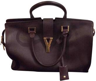 Saint Laurent Chyc Burgundy Leather Handbags