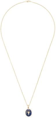 O Thongthai Capricorn 14kt yellow gold lapis lazuli diamond necklace