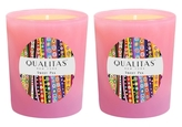 Qualitas Candles Sweet Pea Beeswax Candles (Set of 2) (6.5 OZ)