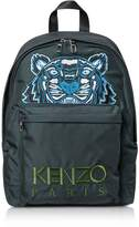 Kenzo Dark Gray Canvas Large Tiger Backpack
