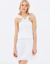 Maison Scotch Tiered Cotton Dress with All-Over Embroidery