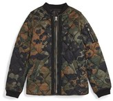 Burberry 'Mini Benjamin' Quilted Camo Bomber Jacket (Toddler Boys, Little Boys & Big Boys)