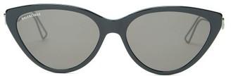 Balenciaga Cat-eye Acetate Sunglasses - Black