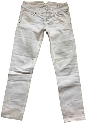 Cycle White Cotton - elasthane Jeans for Women