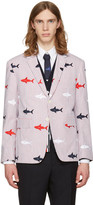 Thom Browne Tricolor Allover Shark Classic Blazer