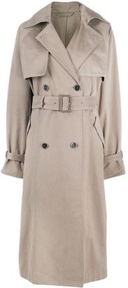 Acne Studios Double-Breasted Belted Trench Coat