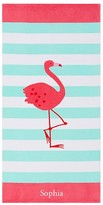 Pottery Barn Kids Flamingo Classic Stripe Kid Beach Towel, Multi