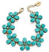 Fiorelli Costume Women's Blue Stone Flower Bracelet of 26-31cm