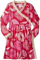 Masala Eden Wrap Dress (Toddler/Kid) - Red - 6 Years