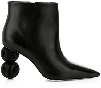 Cult Gaia Cam Bauble-Heel Leather Ankle Boots