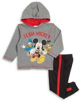 Nannette Baby Boy's Mickey Mouse Thermal Top and Pants Set