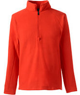 Lands' End Men's Big Thermacheck 100 Half Zip Pullover-Zesty Orange