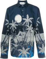 Etro palm trees print shirt