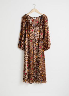 And other stories Leopard Dot Kaftan Dress
