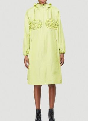 MONCLER GENIUS Moncler X Simone Rocha Ruffle Detail Raincoat