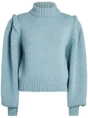 Hayley Menzies Lacey Puff-Sleeved Sweater