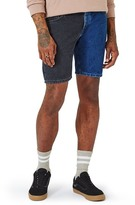Topman Spliced Denim Shorts