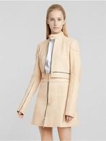 Calvin Klein Collection Vachetta Leather Biker Jacket