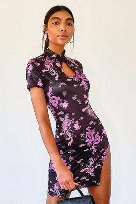boohoo Tall Oriental Dragon Print Mini Dress
