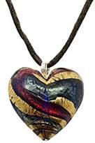Murano Artisans Murano Glass Heart Pendant