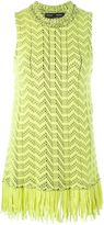 Proenza Schouler zig-zag knit tank top - women - Cotton/Nylon/Viscose - XS