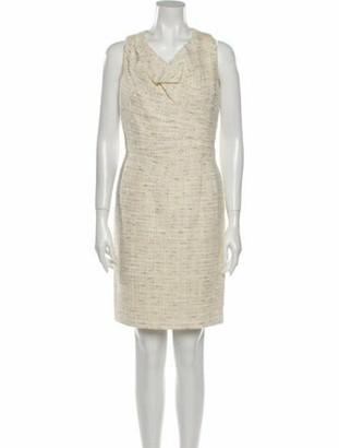 Oscar de la Renta 2012 Knee-Length Dress Metallic