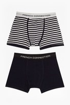 French Connection Tandem Stripe Mix 2 Pack Boxers