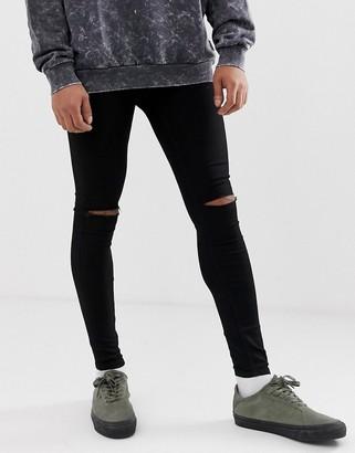 Cheap Monday him spray super skinny jeans in cut black