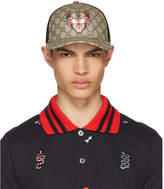 Gucci Brown Angry Cat GG Supreme Baseball Cap