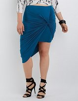 Charlotte Russe Plus Size Draped Asymmetrical Skirt