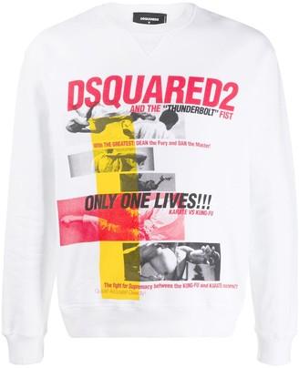 DSQUARED2 Kung Fu print sweatshirt