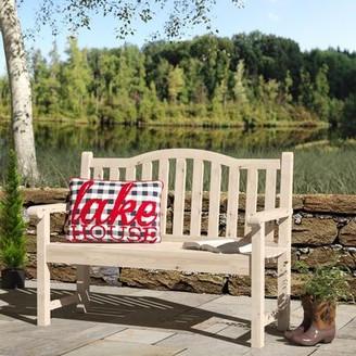 Andover Mills Embry Wooden Garden Bench Color: Natural