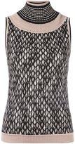 Missoni high neck knit blouse