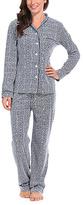 Malabar Bay Navy Greek Key Knit Pajama Set