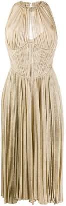 Maria Lucia Hohan metallic sheen pleated dress