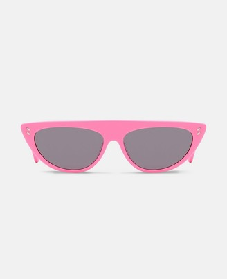 Stella McCartney pink round sunglasses