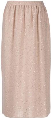 Fabiana Filippi Sequin Embellished Midi Skirt
