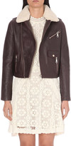 Maje Bluff leather jacket