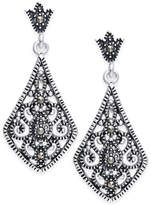 Macy's Marcasite Filigree Drop Earrings in Silver-Plate