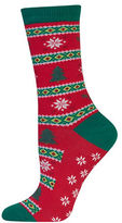 Hot Sox Christmas Tree Fairisle Socks