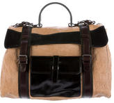 Marni Distressed Leather Messenger Bag