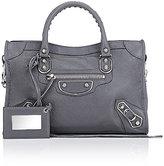 Balenciaga Women's Metallic Edge City Small Bag-GREY
