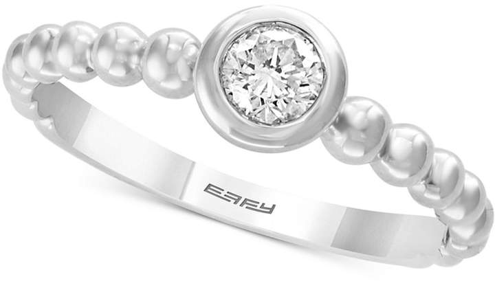 Effy Bubbles by Diamond Bezel Solitaire Ring (1/4 ct. t.w.) in 14k White Gold