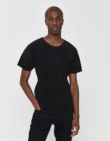 Issey Miyake Homme Plissé Homme Plisse Men's Short Sleeve Basics Poly T-Shirt in Black, Size 2 | 100% Polyester