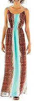 JCPenney Fynn & Rose Striped Maxi Dress
